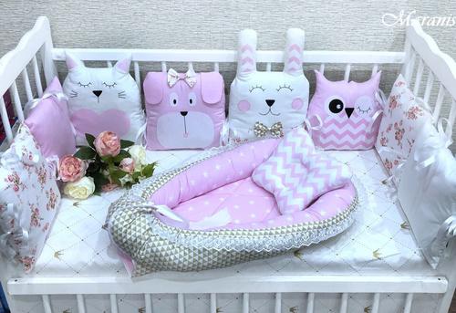 Бортики зверушки в кроватку