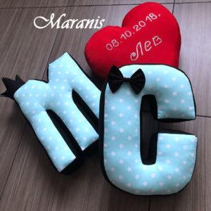 буква подушка М