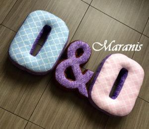 буквы подушки О