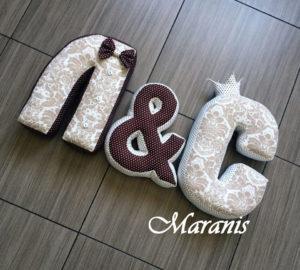 Подушки буквы Л
