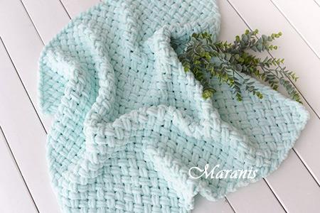 Плед из ализе для новорожденного Tiffani