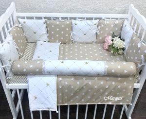 Борты в кроватку «Brown star» 8 бортиков (30×30 см)
