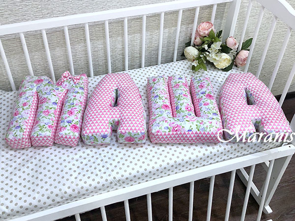 Буквы подушки Маша