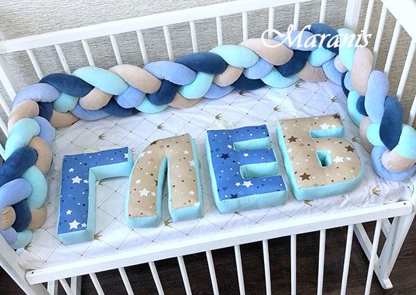 Буквы подушки Глеб