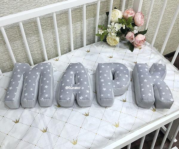Буквы подушки Марк