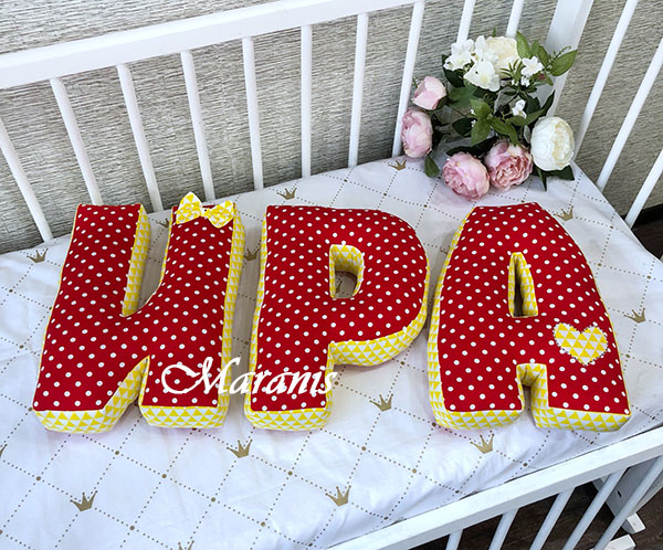 Буквы подушки Ира