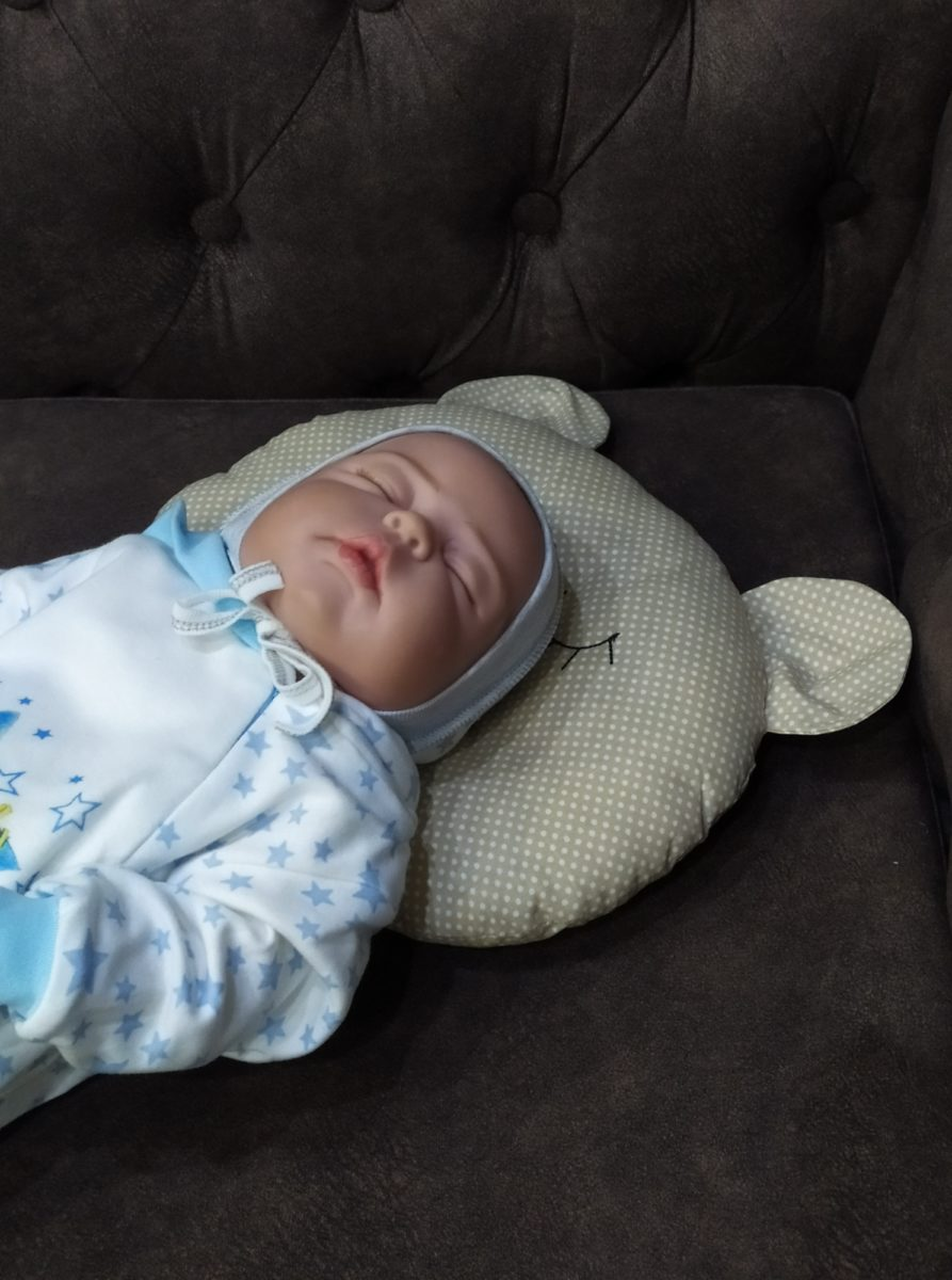 Подушка для новорожденных мишка / арт. 10
