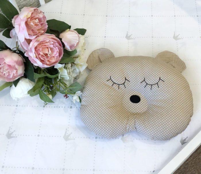 Подушка для новорожденных мишка / арт. 9