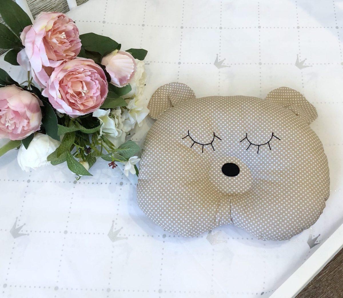 Подушка для мишка для новорожденных / арт. 10
