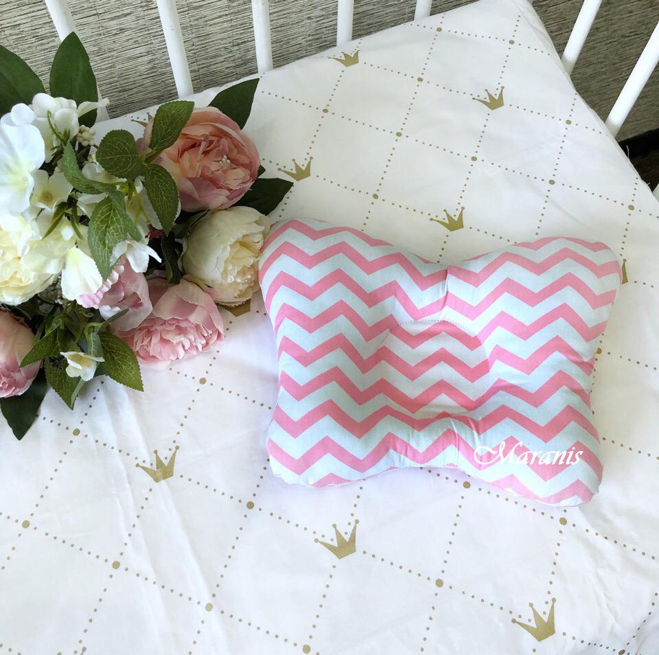 Выкройка подушки для новорожденного + мастер класс.