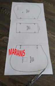 выкройка накладки для срыгивания