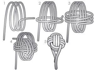 схема как плести подушку узел