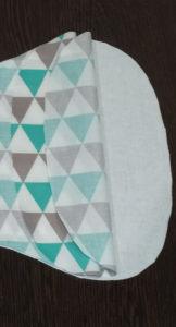sew baby burp cloth