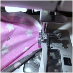 we sew a satin ribbon