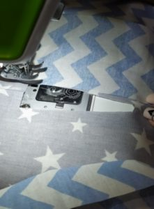 we sew on a sewing machine