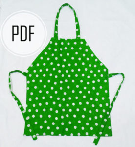 kids apron pattern diy