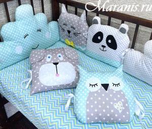 Подушки игрушки животные