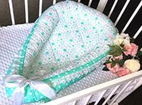 Кокон гнёздышко от Maranis в кроватку ребенка