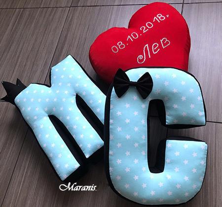 Подушки буквы м фото