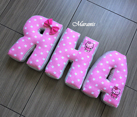 Подушки буквы Яна фото