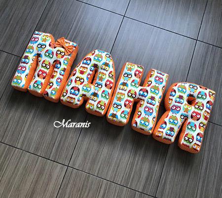 Подушки буквы маня фото