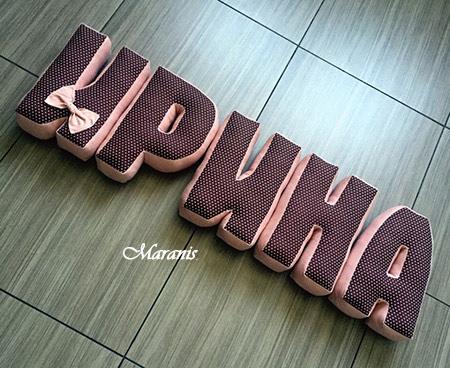 Подушки буквы Ирина фото