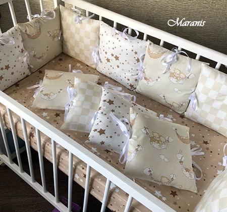 Бампер для детской кроватки в Москве