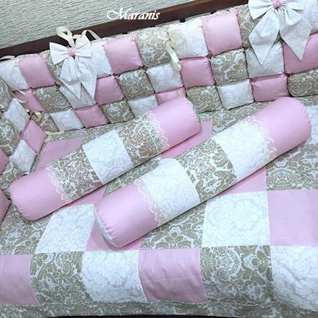 Бортики бомбоны в кроватку