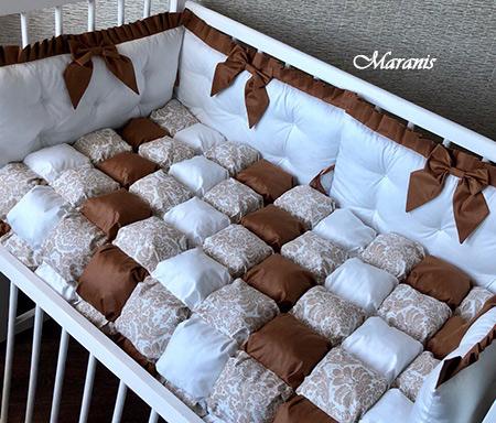 Бортики в кроватку бонбон