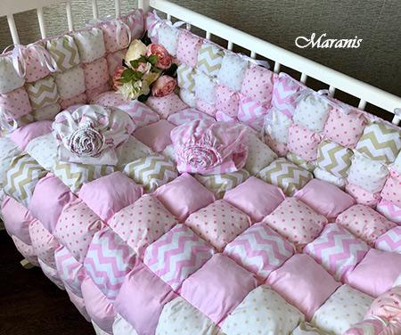 """Бонбоны в кроватку """"Розовая волна"""" фото"""