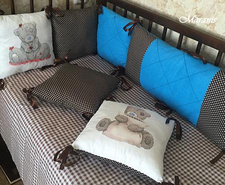 Бортики для детских кроваток от Маранис