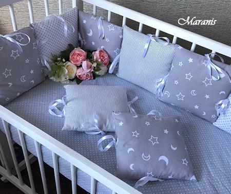 Бортики для детской кроватки от падения от Маранис