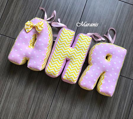 Подушки буквы Аня фото