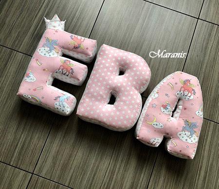 Подушки буквы Ева фото