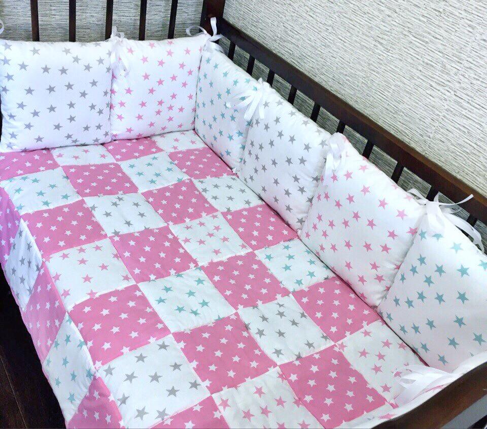 Комплект в кроватку «Цветные звёзды»