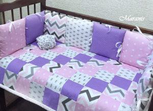 """Комплект в кроватку новорожденных """"Сочный микс"""" фото"""