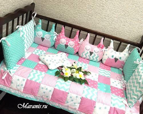 Комплект в кроватку ягодный микс фото