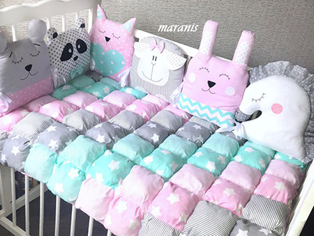 Круглое одеяло бонбон фото