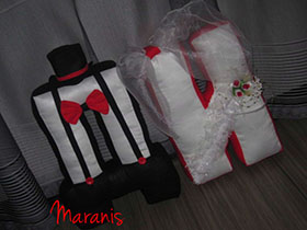 Буквы подушки на свадьбу