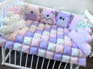 Бортики для новорожденных пример в кроватке