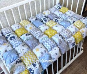Одеяло бонбон в детскую кроватку от Маранис