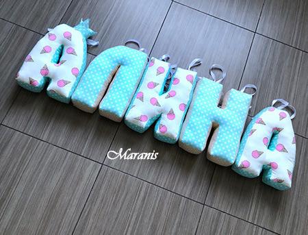 Подушки буквы Алина / арт. 85